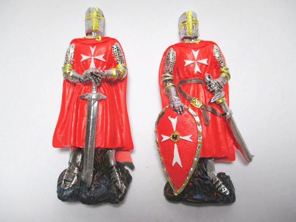 Ritter Knight Magnet Kreuzritter Mittelalter rot 2x  Schwert Schild