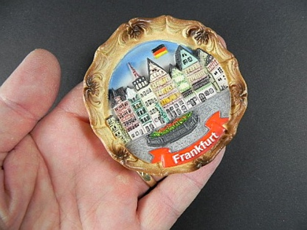 Magnet Frankfurt Römer Skyline Polyresin Souvenir Deutschland Germany *