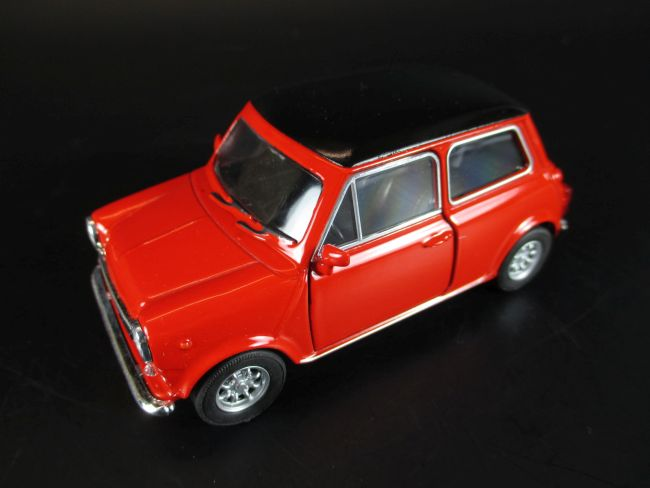 mini cooper 1300 modellauto metall 1 38 welly diecast rot ebay. Black Bedroom Furniture Sets. Home Design Ideas