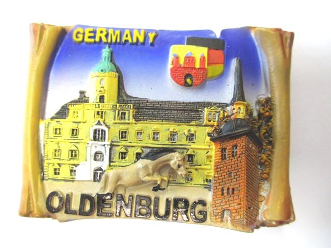 Oldenburg Magnet Poly Rolle 7 cm ,Souvenir Germany,Deutschland,Neu ...