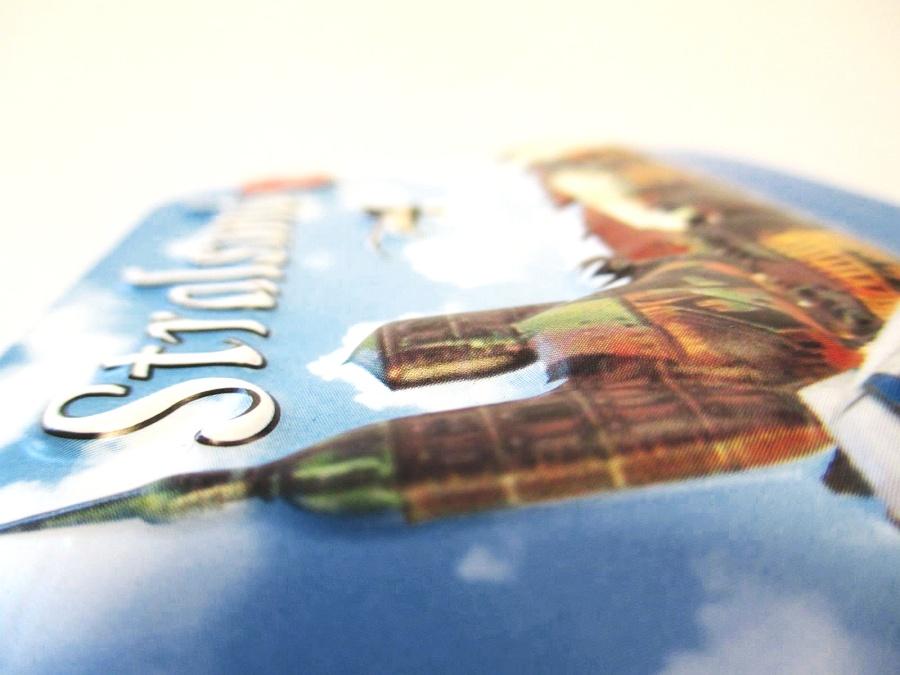 Stralsund Relief 3D Optik unebener Magnet Germany Souvenir 9 cm