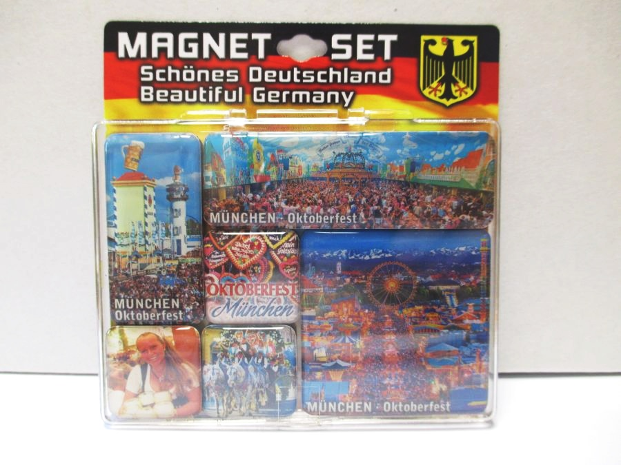 Munich Oktoberfest Munich Bavaria Germany Magnet Set Souvenir 6 pieces