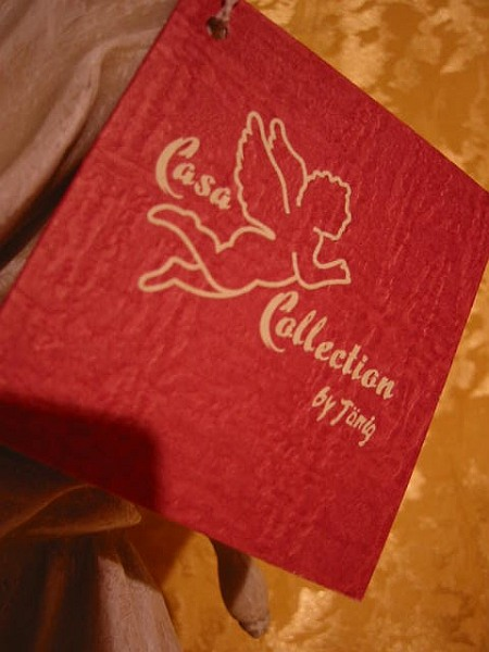 Engel Knieend in Holzoptik mit goldenen Flügel,Casa Collektion,neu,62 cm !