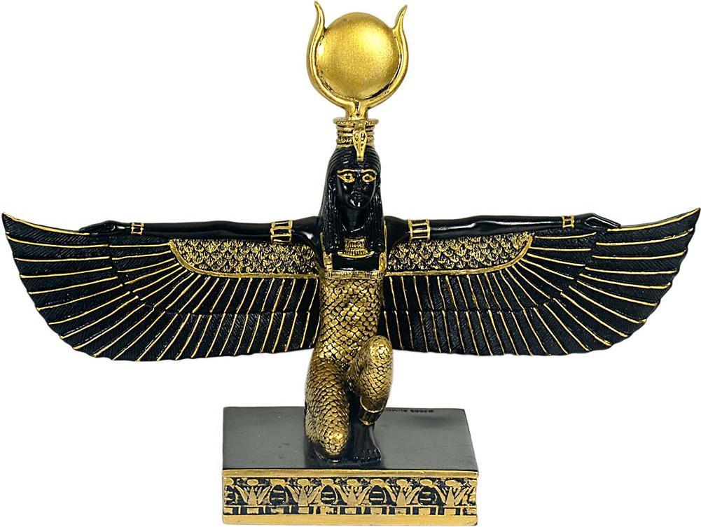 Hathor Ägypten Göttin Mythologie,31cm Poly bronzierte Figur,Museum Kollektion