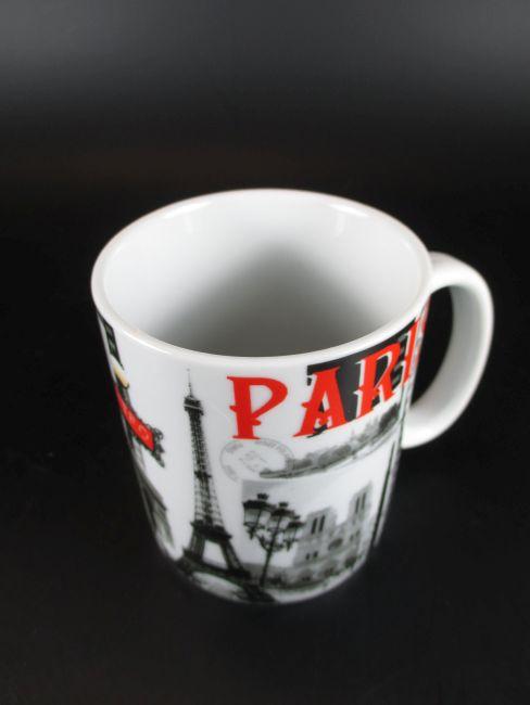 Ceramika Porcelana i ceramika Paris Relief Kaffeetasse Eiffelturm,Kaffeebecher,Coffee Mug,Souvenir France