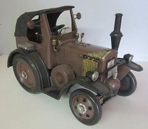 traktor lanz bulldog braun nostalgie blechmodell trecker. Black Bedroom Furniture Sets. Home Design Ideas