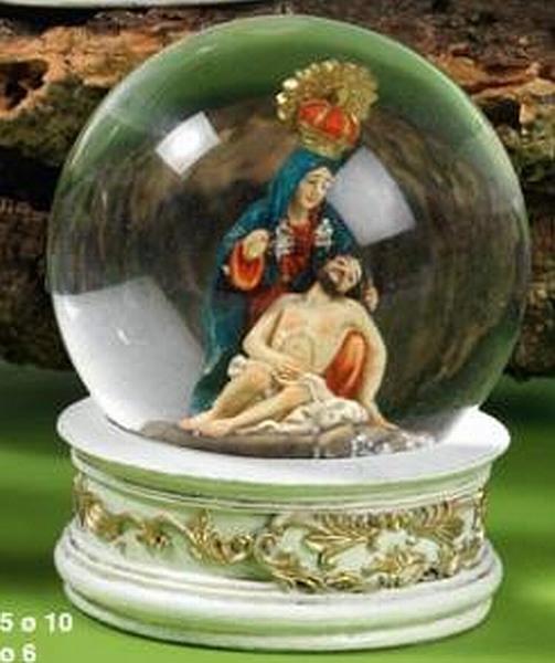 boule de neige Jésus Abnahme croix boule brillante snowglobe