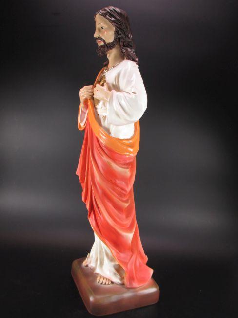 Jesus Sacro Cuore Herz 50 cm Polyresin Figur Statue Heiligenfigur NEU