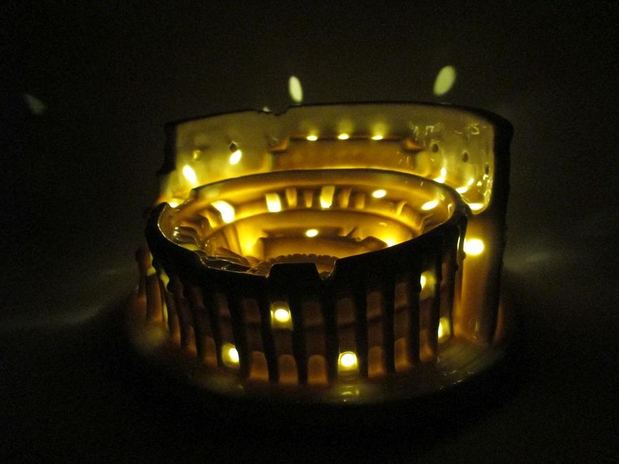 Rom Colosseum Kolosseum Porzellan Modell braun Licht Souvenir Italien