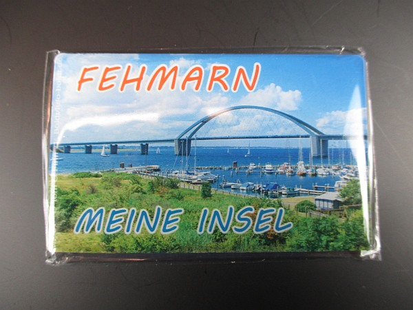 Fehmarn Ostsee Brücke Möwe Foto Magnet Reise Souvenir Germany