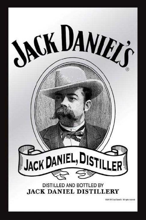 Jack Daniels Whisky Miroir Miroir Mural Bar Garçon de Soirée Pub 20x30cm