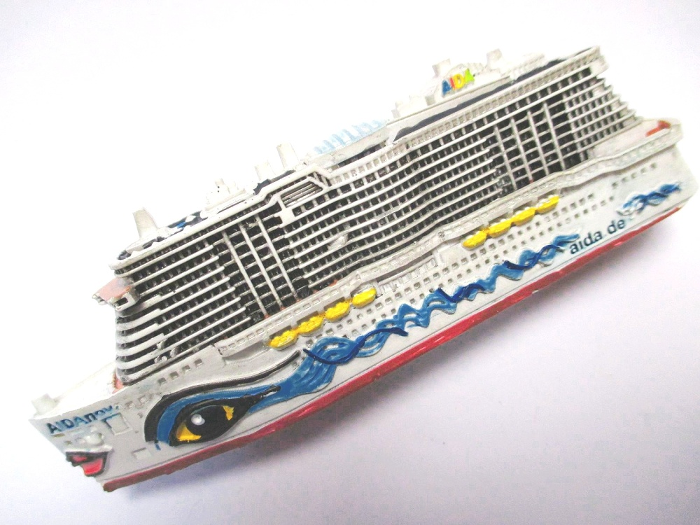 Schiff Modell Kreuzfahrtschiff  MS Aidamar Aida,12 cm Polyresin Cruise Ship,NEU