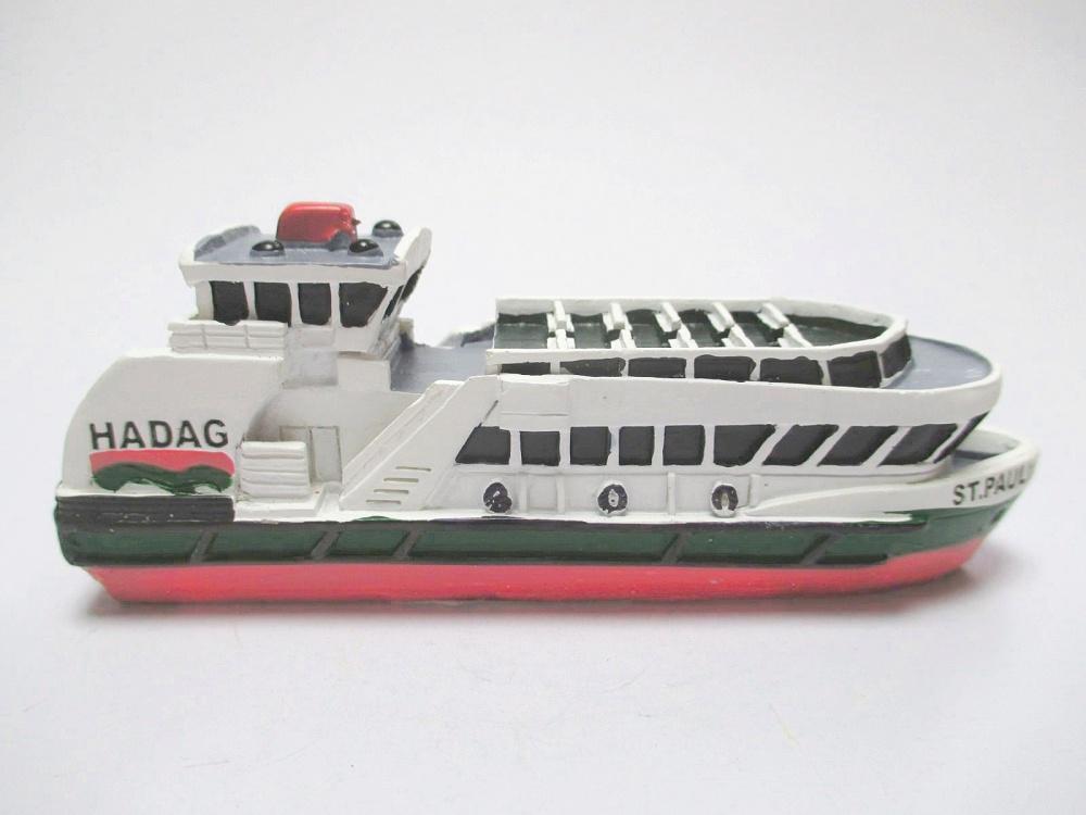 Schiff MS St Pauli Hamburg Passagierfähre,11 cm Polyresin Collector Modell
