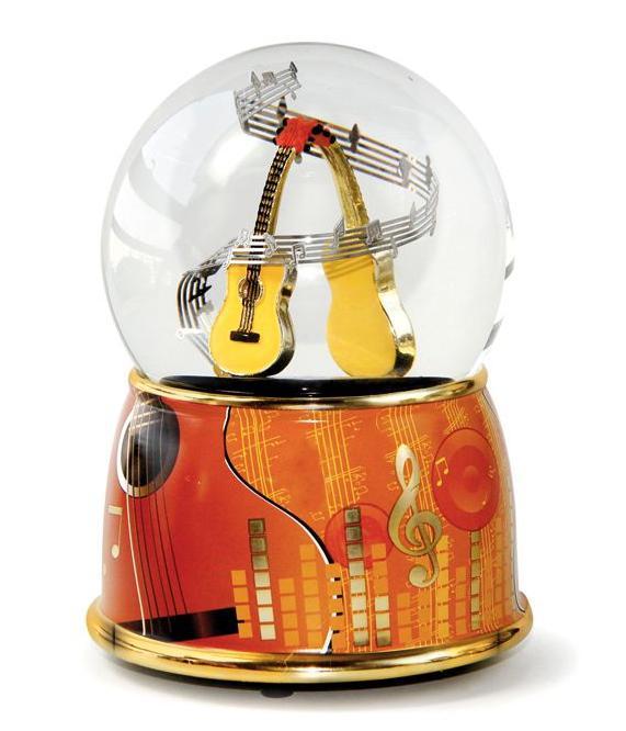 Schneekugel XL mit Spieluhr Klavier Flügel,15cm,Souvenir Musik Konzert