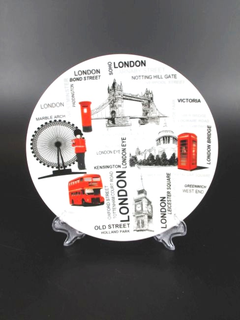 london porzellan teller 15 cm souvenir england eye big ben tower bridge world. Black Bedroom Furniture Sets. Home Design Ideas