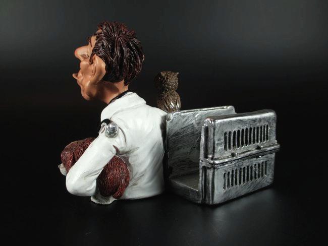 Tierarzt Visitenkartenhalter Handyhalter Funny Job Beruf,Poly 10cm