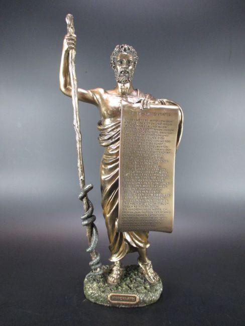 Baphomet Dämon mit Ziegenkopf,37 cm Poly bronzierte Figur,Museums Kollektion