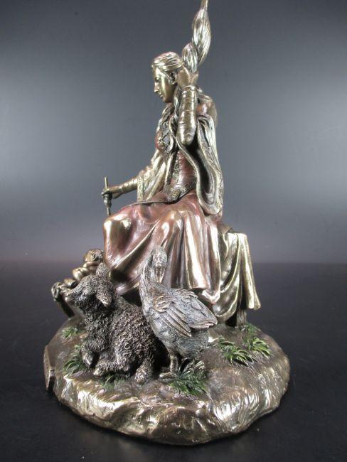 Frigga Frigg Frau von Odin 20 cm bronzierte Figur,Veronese