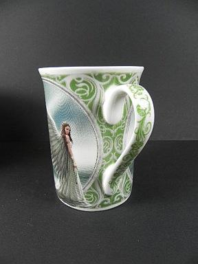 Tasse Porzellan Nemesis Anne Stokes,SPIRIT GUIDE ENGEL,Porzellanbecher Collector