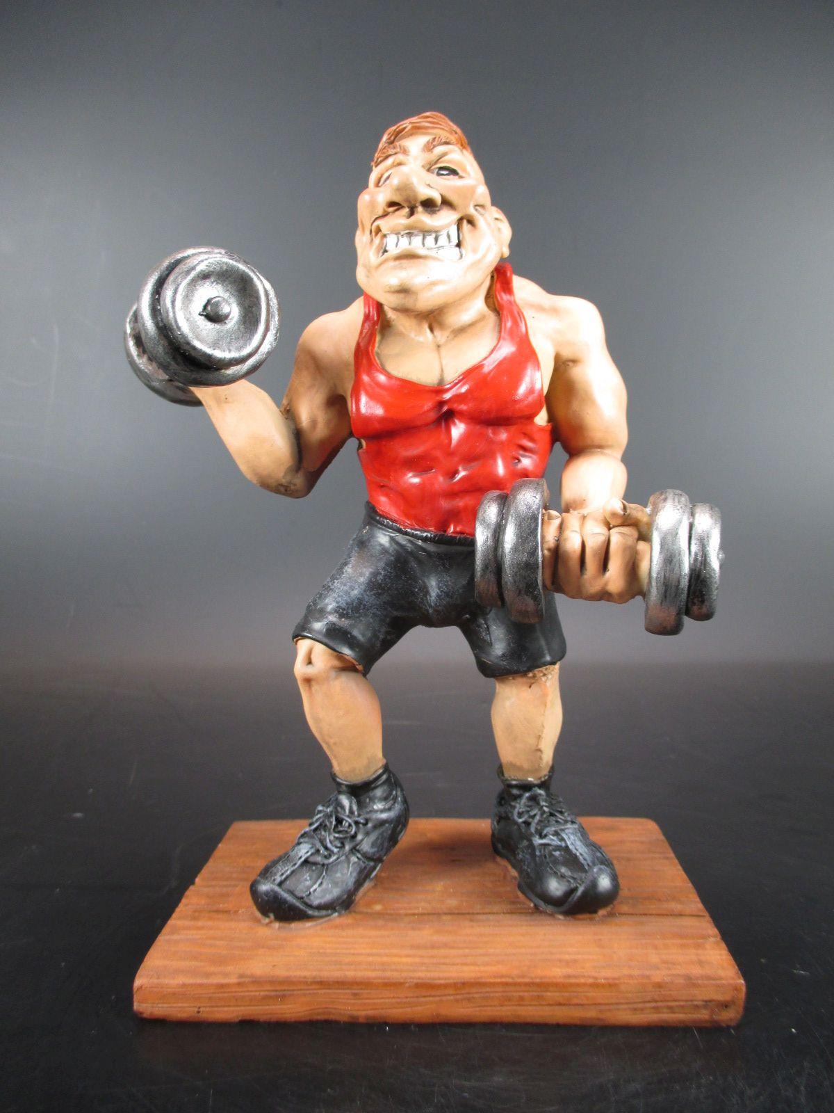 Bodybuilder Bodybuilding Fitness 18 cm Sport Funny Figur
