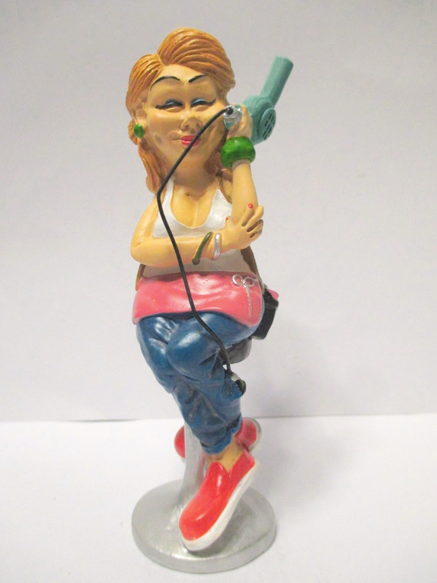 Friseurin Friseuse Funny Beruf Figur Profession 14,5 cm Neu