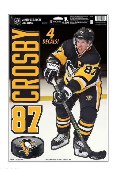 Sidney Crosby Pittsburgh Penguins 4 sticker decal badges set NHL ice hockey de577d73b