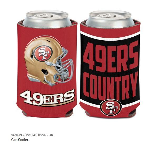 San Francisco 49 ERS doses Refroidisseur 0,5 Ltr NFL Football Slim Can Cooler
