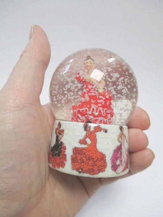 Flamenco Tanzerin Espana Schneekugel Spanien Souvenir Snowglobe Ebay