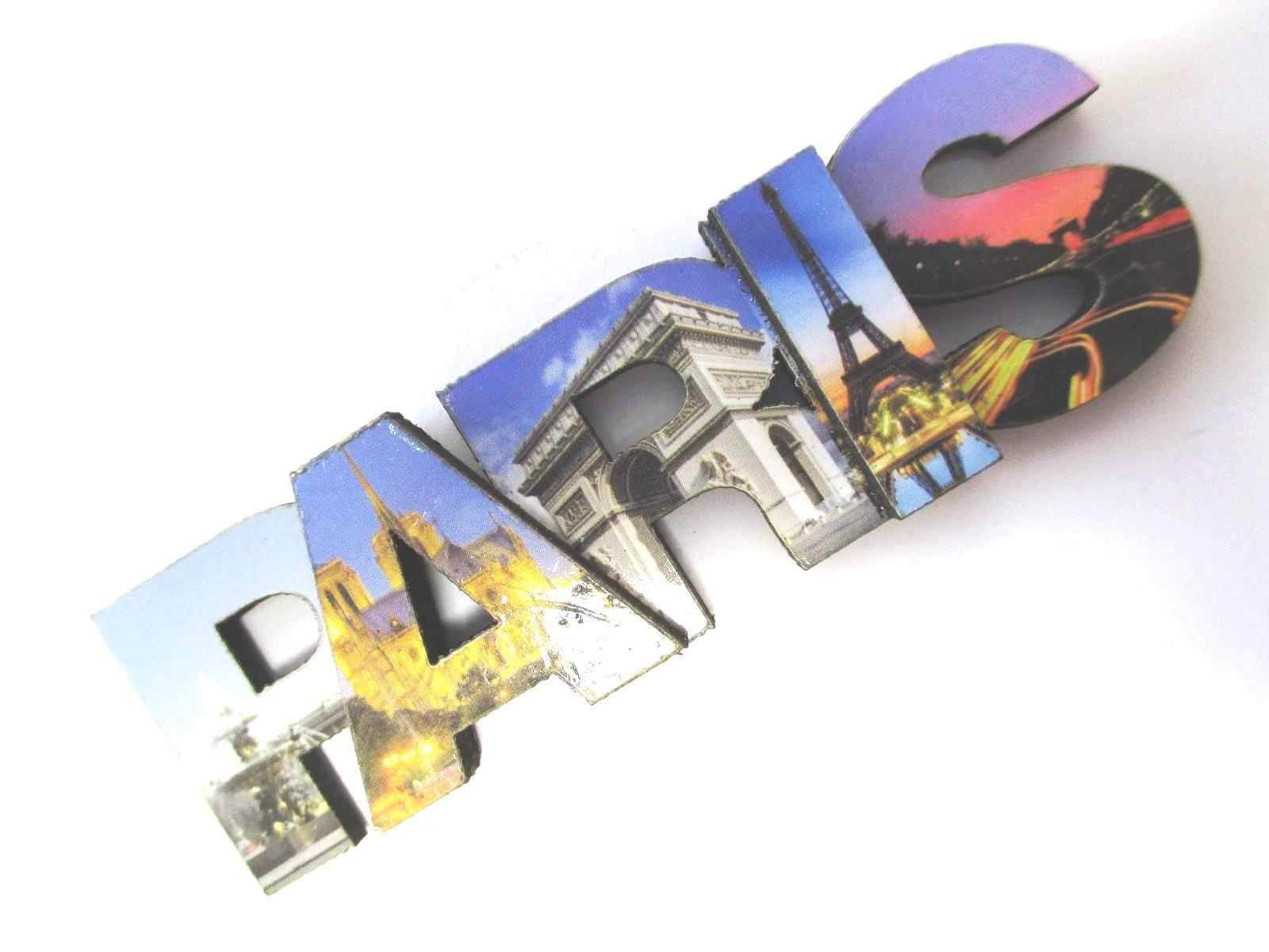 Paris Wooden Magnet Uppercase Letters, Eiffel Tower, 8 Cm, Souvenir ...