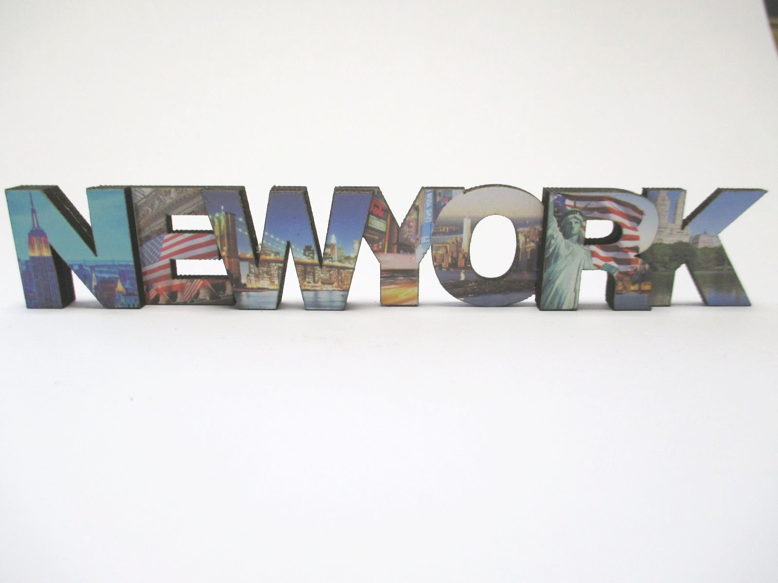 New York Wooden Magnet Uppercase Letters, 15 cm, Souvenir USA ...