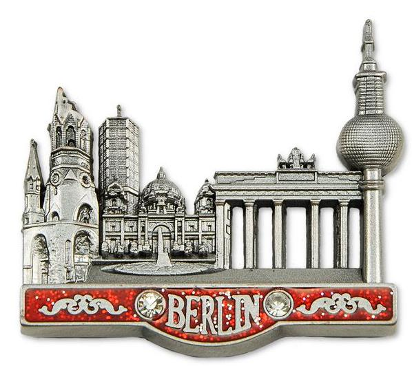 Berlin Foto Magnet  8cm Souvenir Germany Brandenburger Tor Collage