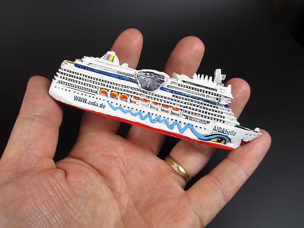12cm POLIRESINA Cruise Ship Modello NAVE NAVE DA CROCIERA MS AIDAbella Aida NUOVO