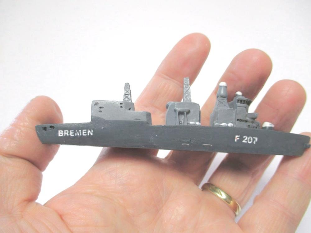 Marine Boot Fregatte Brandenburg Schiff 11 cm Polyresin ship Collector